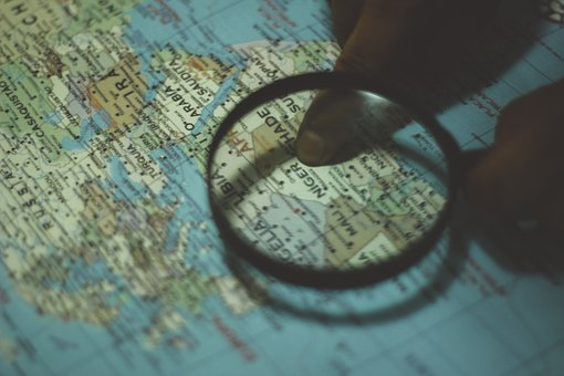 Map, Magnifying Glass, Directions, Navigation, Globe