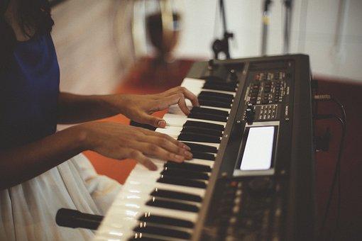 Electric Keyboard, Music, Instrument, Musician, Hands