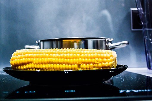 Corn, Corn On The Cob, Stove, Oven, Pot, Steam, Smoke