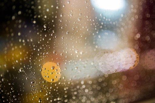 Rain, Raining, Rain Drops, Wet, Moisture, Window