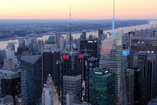 Skyline, Skyscraper, New York, H M, Metropolis, Usa
