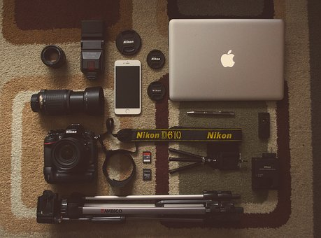 Camera, Gear, Objects, Photography, Technology, Macbook