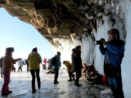 Baikal, Lake, Journey, Tourists, Group, The Chinese