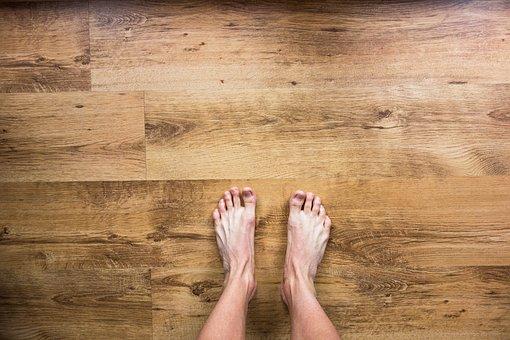 Barefoot, Bare, Feet, Floor