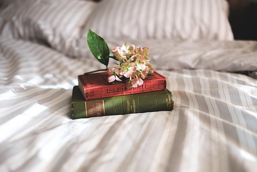 Books, Reading, Bedroom, Bed