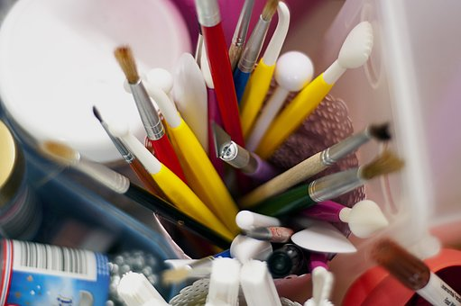 Paint, Brushes, Art, Supplies, Stationary