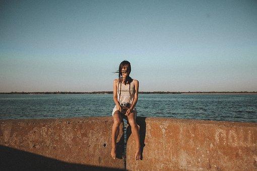 Girl, Woman, Photographer, Photography, Camera, Lake