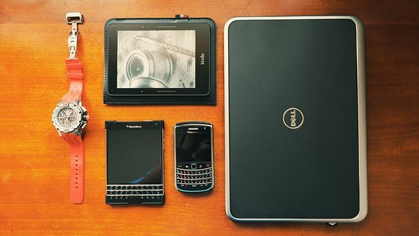 Dell, Laptop, Blackberry, Cell Phone, Smartphone