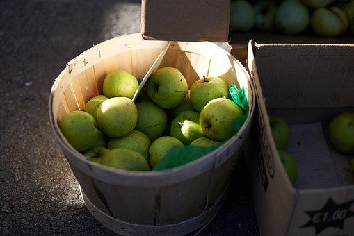 Apples, Fruits, Basket, Farm, Healthy