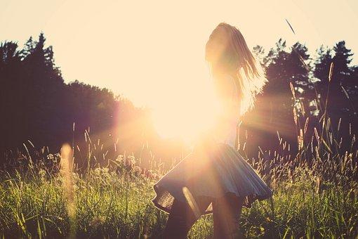 Sunset, Sunshine, Girl, Brunette, Long Hair, Fashion