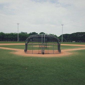 Baseball Diamond, Field, Grass