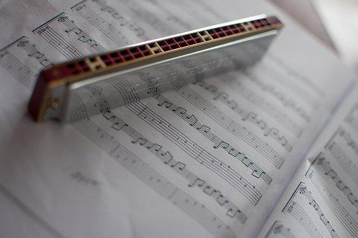 Harmonica, Music, Notes, Book