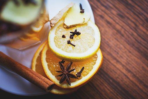 Lemon, Slices, Cinnamon