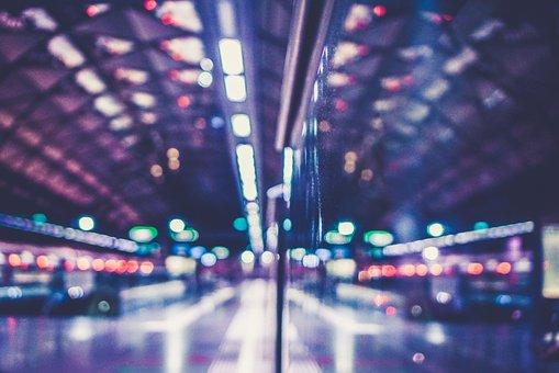 Lights, Blurry, Metro, City, Urban, Transportation