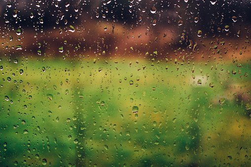 Raining, Rain Drops, Wet, Window, Blurry