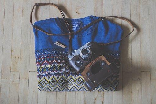 Sweater, Camera, Slr, Hardwood