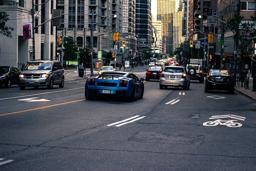Lamborghini, Cars, Street, Road, Traffic, Busy