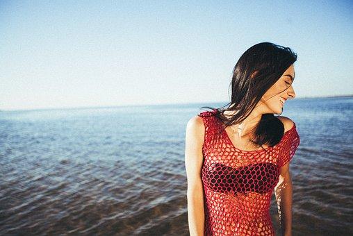 Girl, Woman, Model, Smile, Smiling, Happy, Brunette