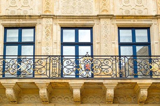 Balcony, Stone, Historic, Architecture, Palace, Ducal