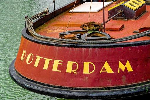 Barge, Houseboat, Boat, Canal, Rotterdam, Netherlands