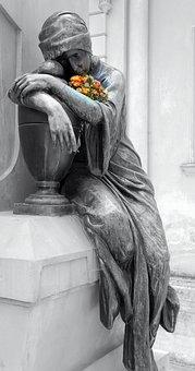 Statue, Headstone, Cemetery, Grave, Graveyard, Death