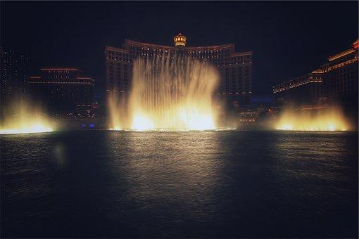 Bellagio, Las Vegas, Hotel, Casino, Fountain, Water