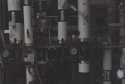 Industrial, Gauges, Meters, Pipes, Pressure, Wires
