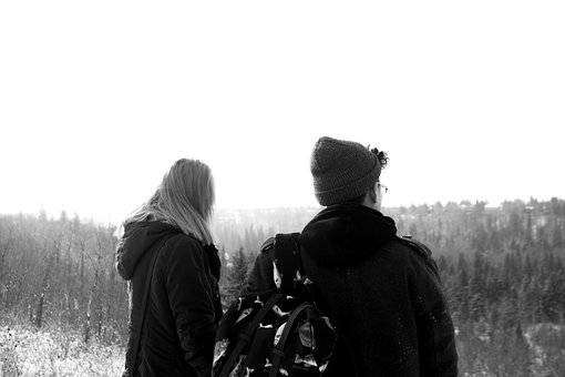Guy, Girl, People, Outdoors, Winter, Cold, Hat, Toque