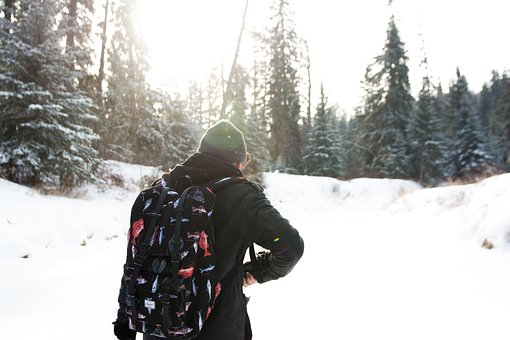 Guy, Toque, Backpack, Jacket, Beanie, Hat, Winter, Snow