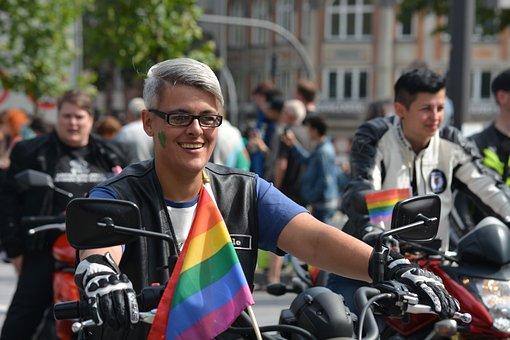 Human, Woman, Man, Gay, Christopher Street Day, Hamburg