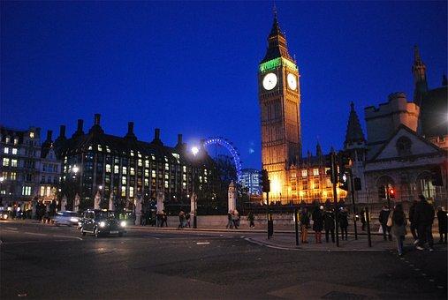 Big Ben, Clock, Parliament, London, England