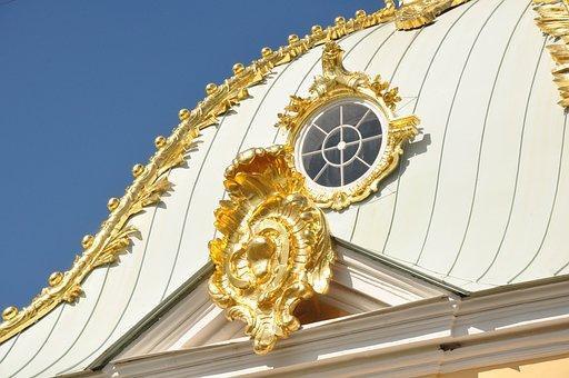 Roof, Temple, Palace, Vintage, History, Peterhof