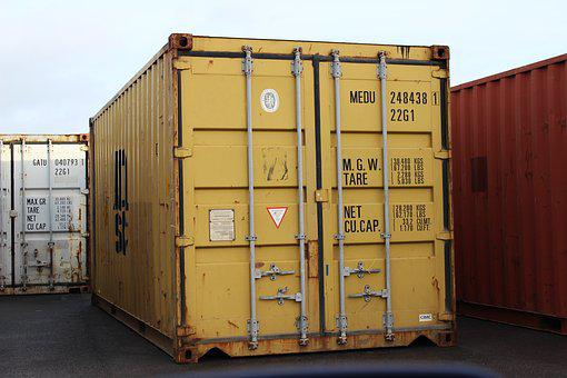 Container, Shipping, Shipping Container, Cargo, Freight