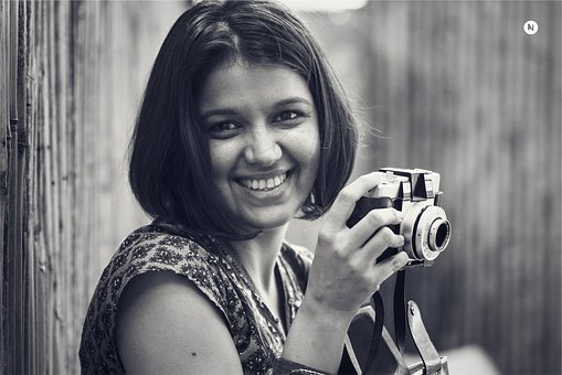 Girl, Woman, Smile, Smiling, Happy, Photographer