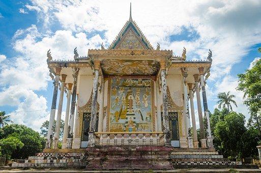 Cambodia, Pagoda, Asia, Temple, Travel, Khmer, Ancient