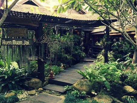 Chiang Mai, Thailand, Restaurant, Plants, Garden