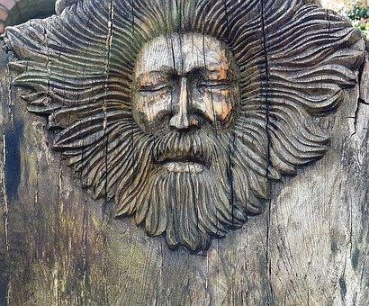 Face, Wood Carving, Man, Art