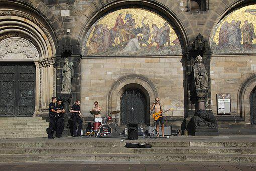 Band, Play, Bremen, Church, Police, Police Order