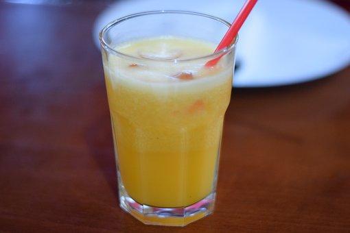 Orange, Orange Juice, Served, Cocktail, Juice