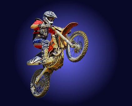 Motor, Crosser, Dirt Bike, Motocross, Motorcycle, Stunt