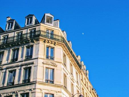 Paris, Apartment, Facade, Building, City Palace