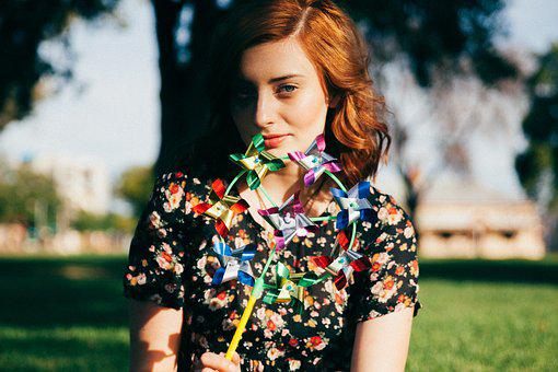 Girl, Woman, Red Head, Blouse, Fashion, People, Pretty