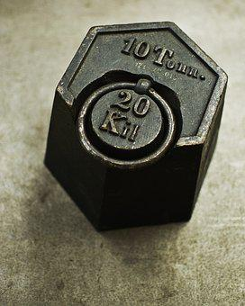 Kilo, Weight, Hard, Iron, Black, Horizontal