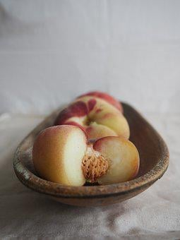 Peach, Flat Peach, Fruit, Delicious, Healthy