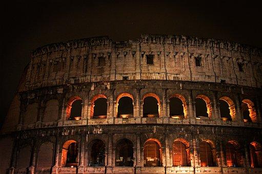 Rome, Italy, Colosseum, Italian, Europe, Ancient