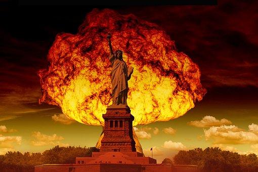 Statue Of Liberty, Mushroom Cloud, Atomic Bomb