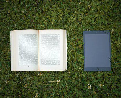 Book, Read, Technology, Old, New, Contrasting, Opposing