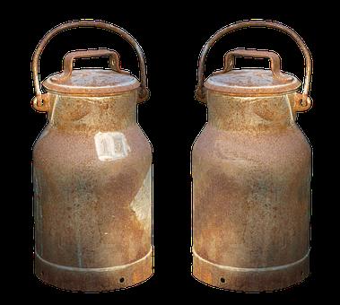 Milk Can, Pot, Milk, Old, Aluminium, Started, Png