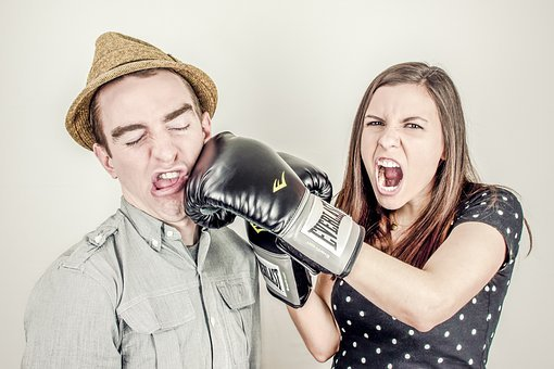 Boxing, Glove, Fighting, Punching, Girl, Woman, Guy