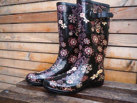 Rubber Boots, Rain, Shoes, Human, Boots, Autumn, Wet